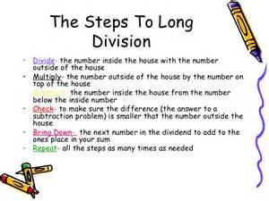 long division steps 4th grade images