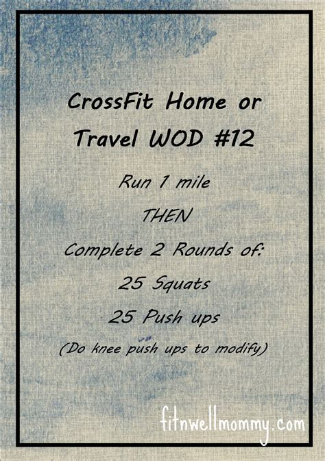 crossfit home or travel wod 12 deliciously fit