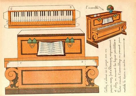 Papercraft Piano - 1000 images about instrument papercraft on