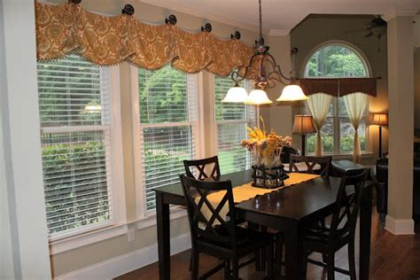 curtains for bay windows in dining room dining room curtains since my windows are bay windows i