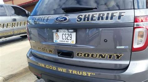polk county ga sheriff s department joins the in god we