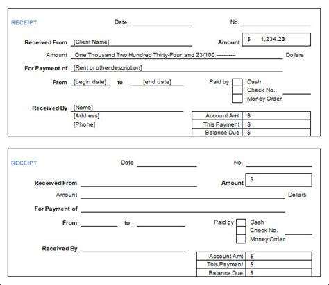 sample cash receipt template 29 free documents in pdf word