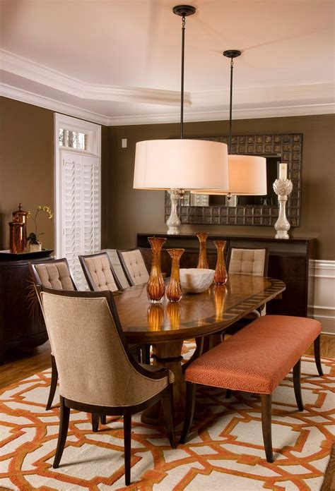 Drum Dining Room Light Drum Pendant Lighting Dining Room Transitional With Coffered Ceiling Side Chairs