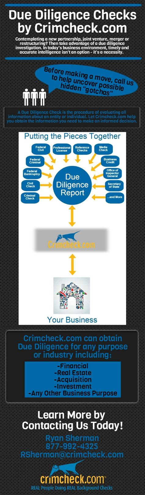 Due Diligence Background Check Infographics Background Checks Employment Screening Services