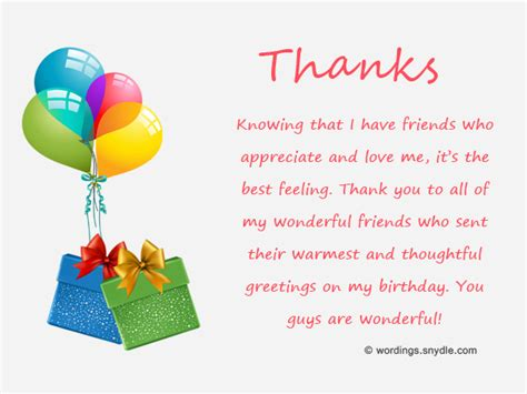 thank you letter to friend for birthday gift how to say thank you for birthday wishes wordings and
