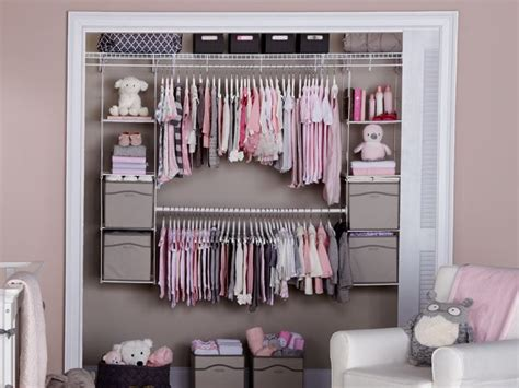 baby closet organizer ideen add shelving and hang space to your closet with no tools