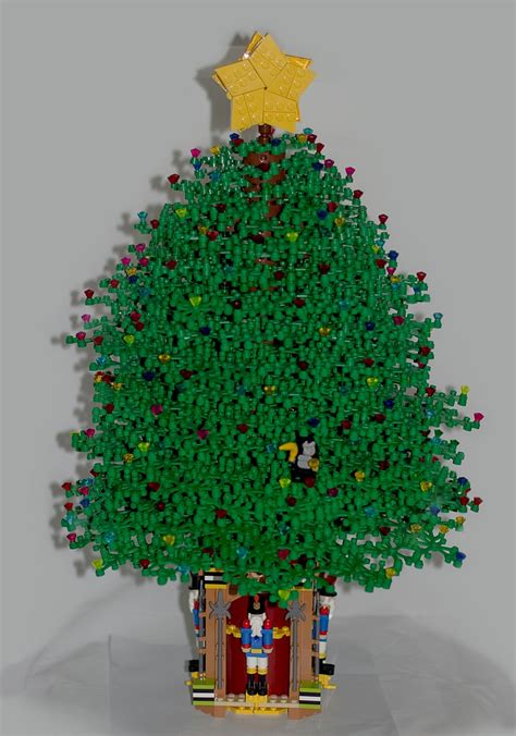 lego christmas tree 1 563 pieces and 14 months to build
