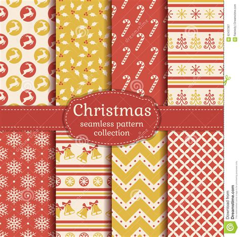 traditional new year wallpaper seamless patterns vector set stock vector