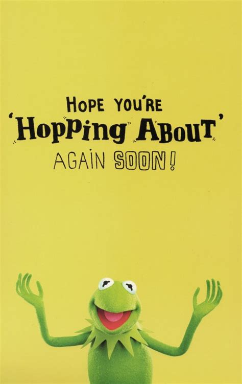 Kermit The Frog Get Well Soon Card   Cards   Love Kates