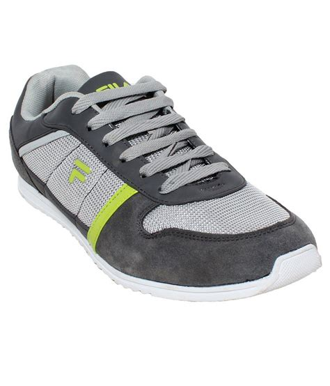 gray shoes fila gray lifestyle shoes price in india buy fila gray