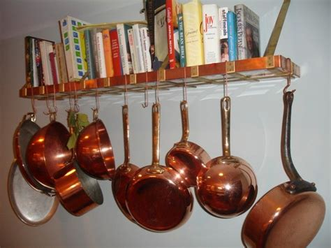 Shelf To Hang Pots And Pans Hanging Pot Rack How Do You Hang Pots And Pans On The