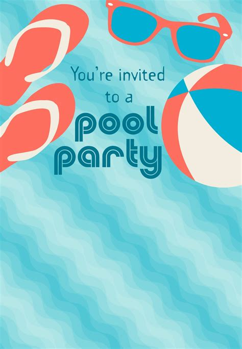 printable invitations pool party free printable pool party stuff invitation i love