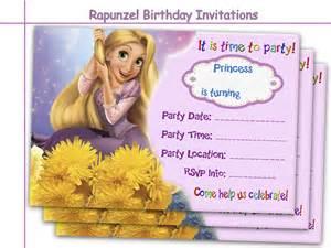 amazing rapunzel birthday invitations holidaypartystar