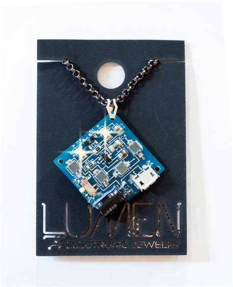 Blink Square Fox blinky square necklace lumen electronic jewelry