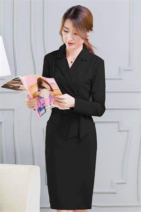Dress Scuba Quality Dress Cantik Fashion Wanita busana kerja wanita korea black sleeved dress