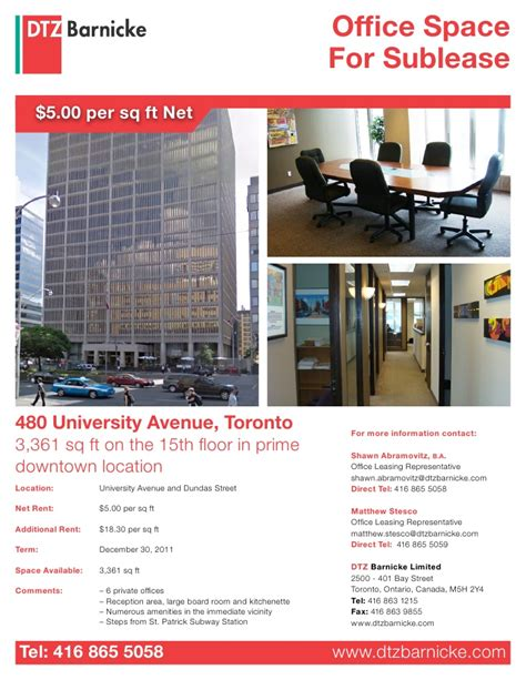 Sle Office Lease by 3 Deals 2 May Toronto Commercial Real Estate And Office Space For L
