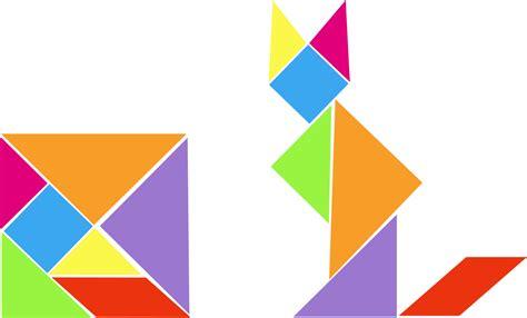 tangram cuadrado geometr 237 a y figuras planas con la ayuda tangram