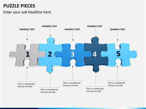 puzzle pieces powerpoint template sketchbubble