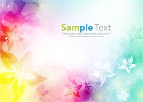 colorful floral design background illustrator vector colorfully abstract flower design background vector