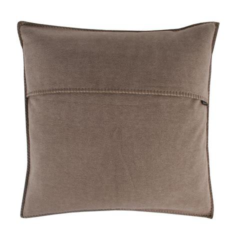 Decken Shop by Zoeppritz Soft Fleece Kissen 40x40 Braun 2 Er Set