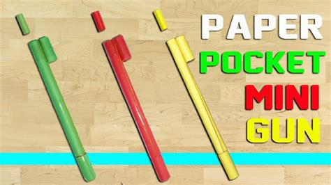 Make A Paper Pocket - paper pocket mini gun that shoots paper bullets