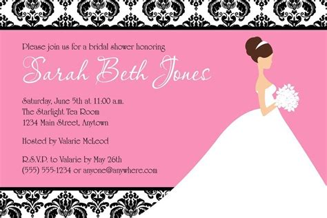 make free printable bridal shower invitations create bridal shower invitations online free mini bridal