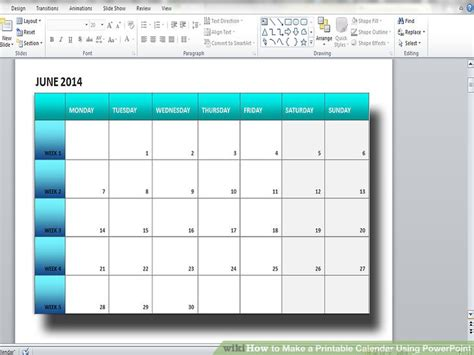 blank calendar template powerpoint how to make a printable calendar using powerpoint 9 steps