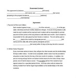 roommate agreement template 10 free word pdf document