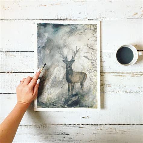 watercolor deer tutorial art tutorials we lived happily ever afterwe lived