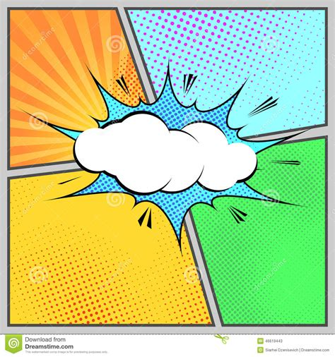 illustrator template artist sketch cards comic pop humorous page style template stock vector