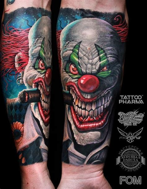 tattoo disasters clown tattoos scary clown tattoo clown tattoo scary clowns and tattoo
