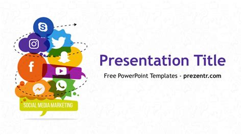 Free Social Media Marketing Powerpoint Template Prezentr Social Media Ppt Template Free