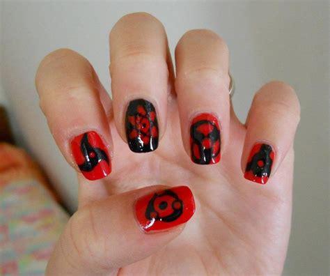 naruto nail art tutorial sharingan nailss by ghostprincess91 on deviantart