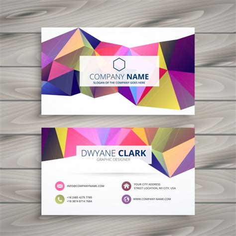 creative business card template vector free download