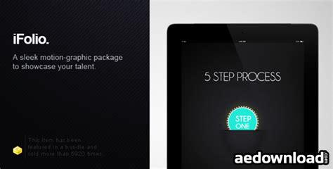 template after effects portfolio ifolio portfolio after effects template project