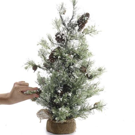 snow small artificial pine tree christmas trees and