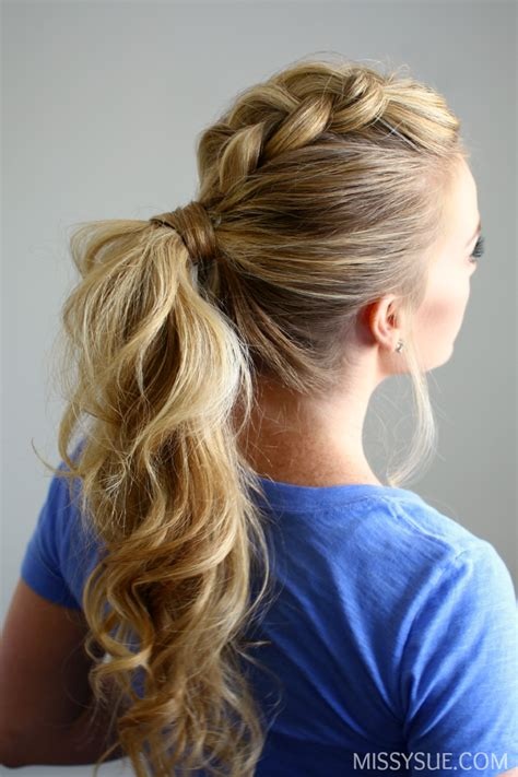 how to do ponytail hairstyles dutch mohawk ponytail