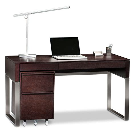 Modern Espresso Desk Bdi Cascadia Espresso Modern Desk Set Eurway Furniture