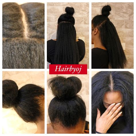 criochet braiding leaving the perimeter of your hair out chest length 3 way part vixen crochet braids with
