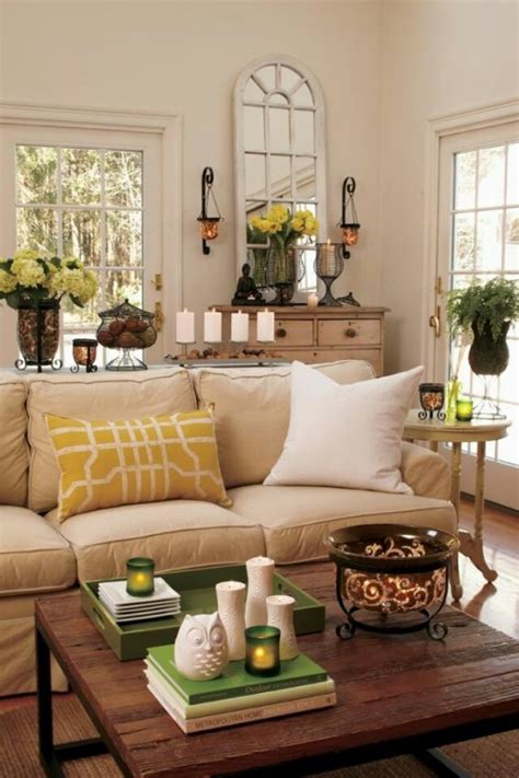33 Cheerful Summer Living Room D 233 Cor Ideas Digsdigs Living Room Table Decorating Ideas