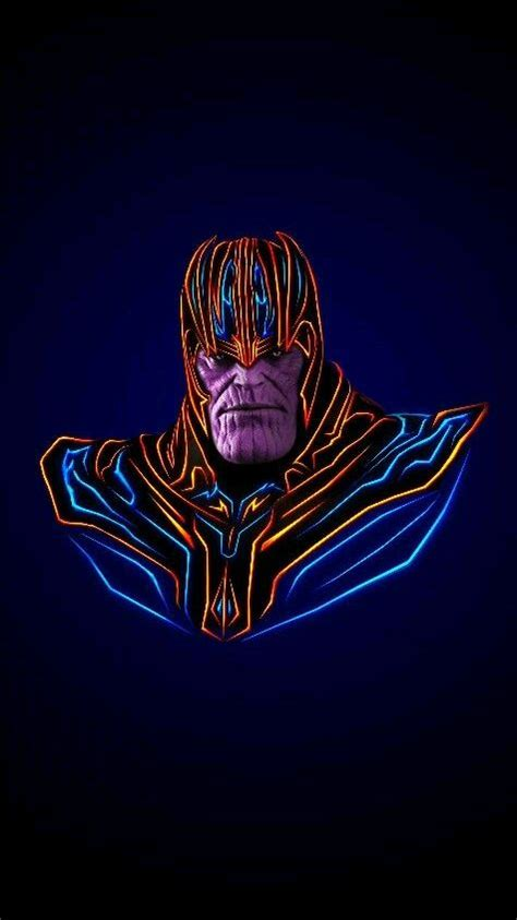 avengers neon thanos iphone wallpaper iphone wallpapers