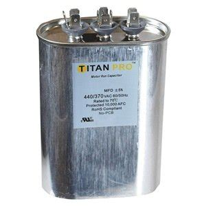 kindle capacitor run capacitor 35 5 mfd 440 370v oval home improvement