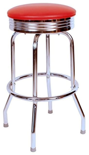 50s Bar Stools Chrome by Richardson Seating Retro Chrome Swivel Barstool View