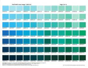 teal color chart pantone color swatch book