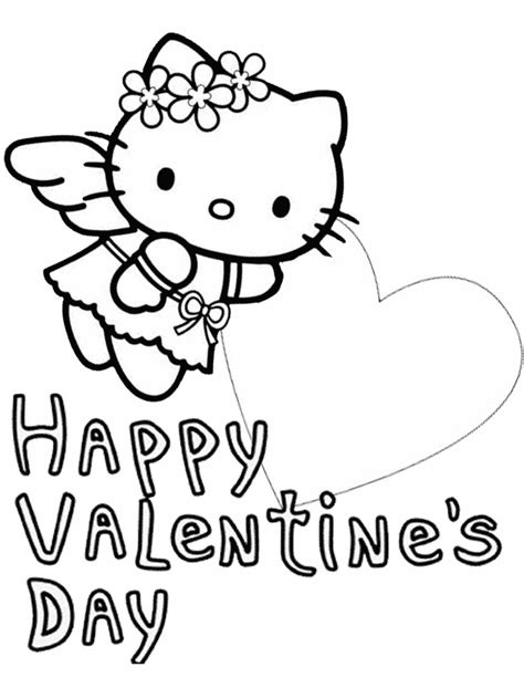 hello kitty coloring pages with hearts hello kitty big heart valentines coloring page h m