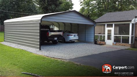 Two Car Garage With Carport by Wide Carport 20 X 21 X 8 Shop Metal Buildings