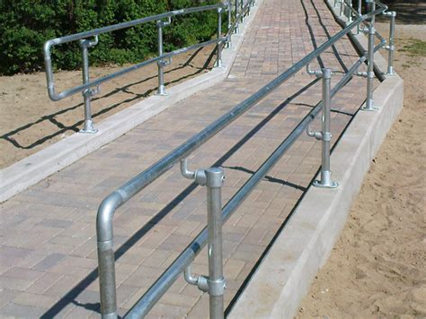 Steel Handrail Components galvanized steel pipe railing made with kee kl 174 pipe fittings
