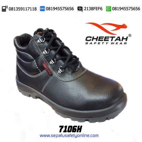 Sepatu Safety Eighteen sepatu safety shoes cheetah 7106 h semi boot tali berkah