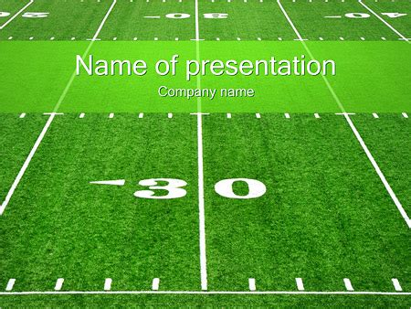 Football Template Powerpoint Funkyme Info Football Field Powerpoint Template