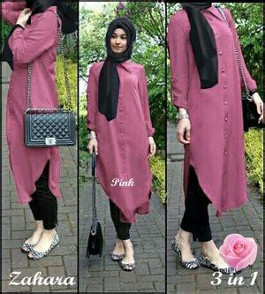 Setelan Baju Muslim Celana Modern Model Baju Setelan Celana Tunik Modis Modern Terbaru